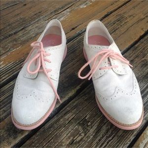 Cole Haan Wingtip Oxford Shoes 8 Suede Lunargrand